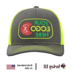 1 112 neon yellow hats embroidered