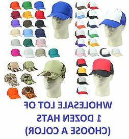 1 dozen trucker hat baseball caps mesh
