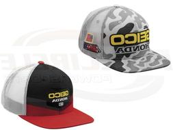 100% Men's Geico Honda Camo Podium Red Gunner Snap Back Hat