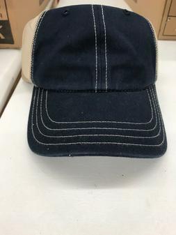 Richardson 111 Garment Washed Snapback Trucker Hat - Navy/Kh