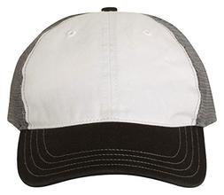 Richardson 111 Garment Washed Trucker Cap White/ Charcoal/ B