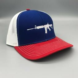 112 ar 15 red white and blue