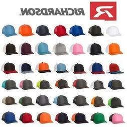 Richardson 112 Mesh Snapback Hat Trucker Cap Blank Adjustabl