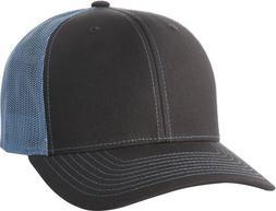 Richardson 112 Trucker Snapback Cap Charcoal/ Columbia Blue