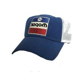 Blue & White Hat / Cap w/ Red White & Blue 1972 Mopar Emblem