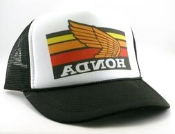1980's Honda motocross Trucker Hat mesh hat snap back hat bl