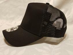 1X - New Era 9FORTY Snapback Trucker Cap Blank  { BLACK } 9F