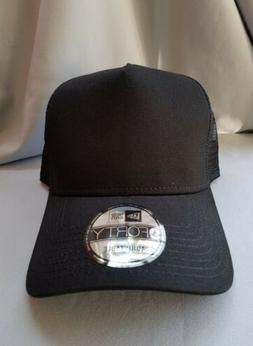 1X - New Era 9Forty Snapback Trucker Hat Cap Blank { BLACK//