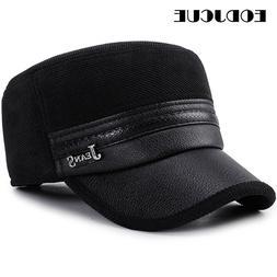 2019 wholesale winter cap men pu leather