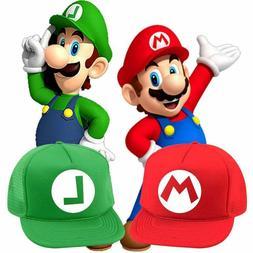 4 Sizes Super Mario Bros Luigi Halloween Costume Hat T Shirt