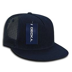 DECKY 5 Panel Denim Trucker Hat, Navy