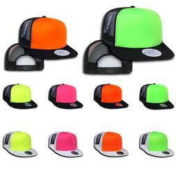 DECKY 5-Panel Flat Bill Neon Trucker Neon Foam Crown Snapbac