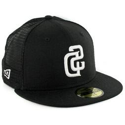 """New Era 59Fifty San Diego SD Padres """"Trucker"""" Fitted Hat  Me"""