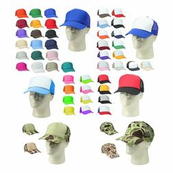 6 PACK HALF DOZEN Trucker Hat Baseball Cap Mesh Caps Blank P