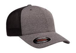 6311 Flexfit Custom Hat Melange Mesh Lids Trucker Cap Mid Pr