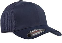 Flexfit 6533 Ultrafibre & Airmesh Fitted Cap, Navy - Large/X