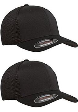 Flexfit 6533 Ultrafibre & Airmesh Fitted Cap, 2Pack 2-Black