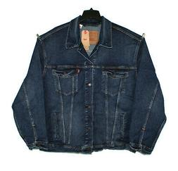 $98.00 LEVI'S TRUCKER JACKET COSULA BLUE STRETCH DENIM FOR B