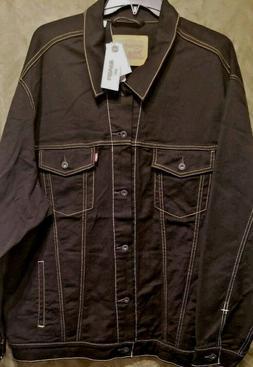 $98.00 LEVI'S TRUCKER JACKET IN BLACK STRETCH DENIM for Big