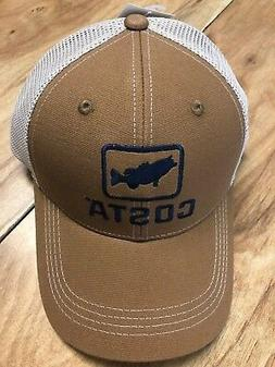BRAND NEW COSTA DEL MAR BASS TRUCKER CAP HAT  BROWN   - HOT