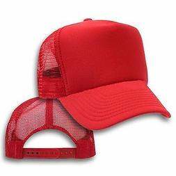 Big Size Red Trucker Mesh Cap  2XL - 4XL  Adjustable BIGHEAD