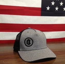 Bitcoin Hat Trucker Style Snapback Meshback 5 panel Black BI
