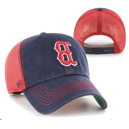 Boston Red Sox 47 Brand TRAWLER Mesh-Back Snapback Trucker D