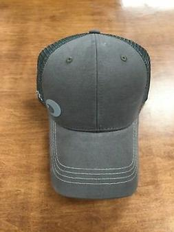 COSTA DEL MAR OFFSET LOGO HD TRUCKER HAT  GRAPHITE  NEW FOR