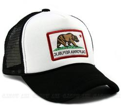 California Republic hat Foam Mesh Trucker CA Flag Snapback B