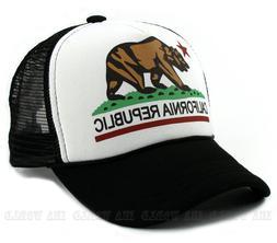 California Republic hat Foam Mesh Trucker Snapback Baseball