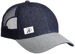 Calvin Klein Jeans Men's Snapback Trucker Hat, Dark Indigo,