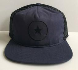 Converse One Star Navy Blue Snapback Trucker Hat Mesh Cons C