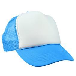DALIX Trucker Cap Neon Blue Hat for Boys Youth Baseball Caps