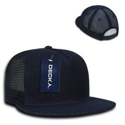 DECKY New 5 Panel Retro Flat Bill Denim Trucker Baseball Cap