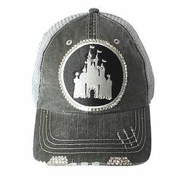 ELIVATA Womens Disney Castle Fitted Trucker Baseball Cap by