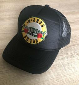GUNS N ROSES Trucker Hat Embroidered Patch Cap Music Rock Ba