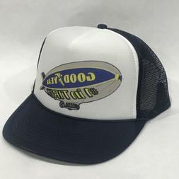 Good Year Tires Blimp Promo Trucker Hat Vintage 80's Mesh