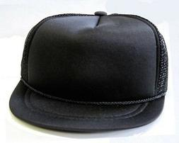 HARD TO FIND - NEW - Baby Infant Trucker Hat - BLACK - Blank