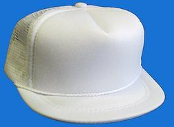 HARD TO FIND - NEW - Baby Infant Trucker Hat - WHITE - Blank
