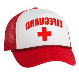 LIFEGUARD Red Cap pool guard Cosplay Trucker Mesh Hats Hallo
