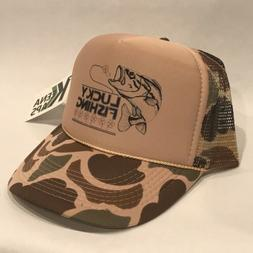 de58841aee731 Lucky Fishing Trucker Hat Irish Clover Shamrock Bass Trout S