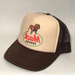 Mack Trucks Trucker Hat Brown Bulldog  Logo! Vintage Style S