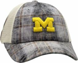 Michigan Wolverines Hat Buckle Back 2-Tone Trucker Mesh 1174