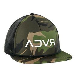 NEW RVCA Foamy Trucker Hat Camo Snap Back Cap Snapback