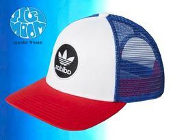 New Adidas Originals Circle Red White Blue Mens Snapback Tru