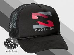 New Billabong Podium Mens Gray Black Trucker Snapback Cap Ha