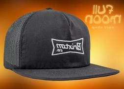 New Brixton Pearson Black Mens Snapback Trucker Cap Hat