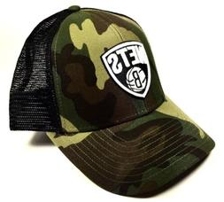 New Jersey Nets NBA Camo trucker Cap Hat Camouflage Cap  Bas