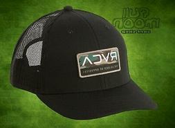 New RVCA Reno Black Camo Snapback Trucker Cap Hat