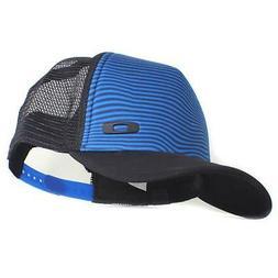 Oakley Crater Trucker Cap Black Blue Mens Womens Adjustable